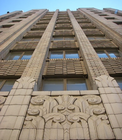 Art Deco style details on front facade of Harborview Hall, 2012 Most Endangered Historic Properties List / Photo: Stephen Day