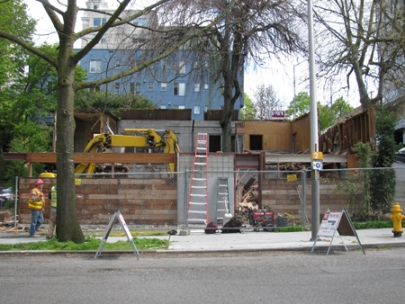 Demolition of Paul Thiry Office Building in progress, 2012. Photo: Eugenia Woo