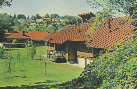 Ad for US Cor-ten steel roof featuring Battelle Memorial Institute Seattle Research Center buildings / Source: Collection of the Friends of Battelle/Talaris