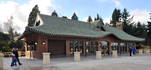 Point Defiance Park Pagoda in Tacoma; 2013 award for Special Achievement - meticulous restoration by Metro Parks Tacoma after the historic structure was almost destroyed by fire (arson). Photo: DAHP